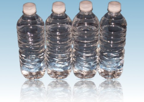 pictures of water bottles. of water per day - or almost